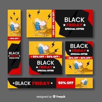 Banner di combinazione venerdì nero