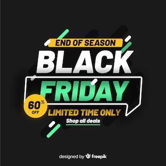 Black friday concept end of season