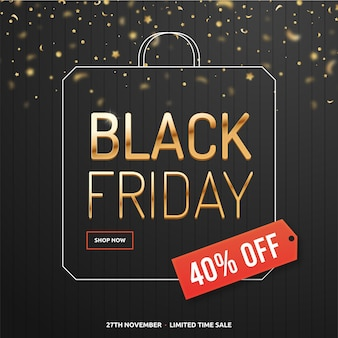 Black friday concept in flat design