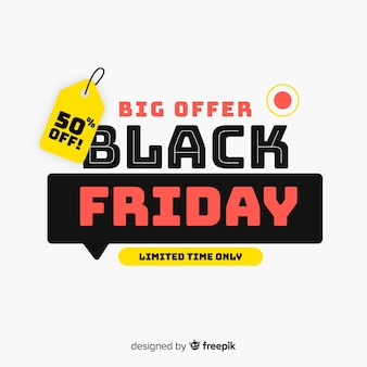 Black friday concept with big offer