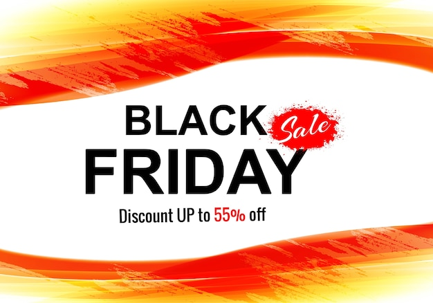 Black friday concept with discount card