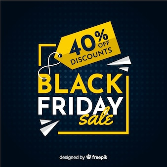 Black friday concept with flat design background