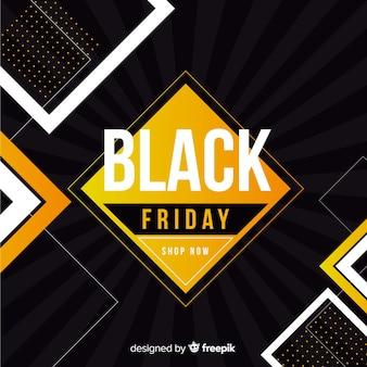 フラットなデザインの背景を持つ黒い金曜日コンセプト