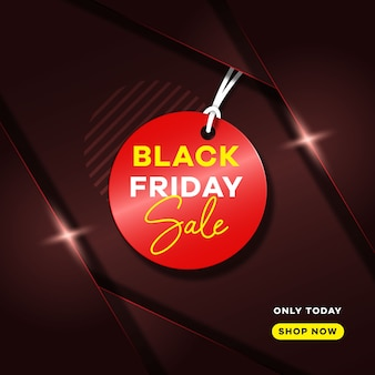 Black friday  concept with gradient overlap background and shiny light