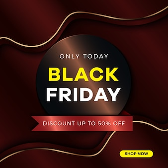 Black friday  concept with gradient overlap background