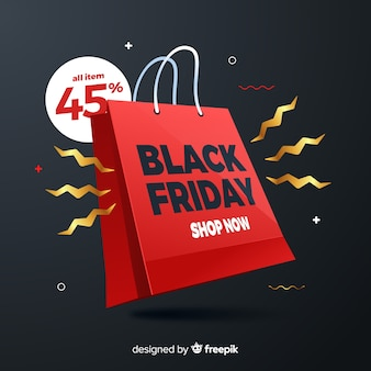 Black friday concept with gradient