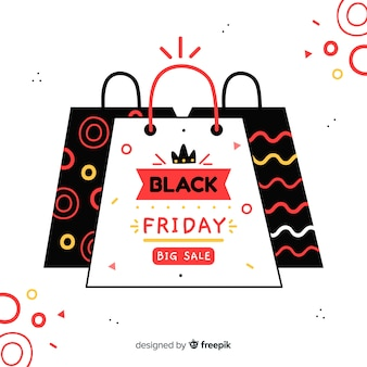 Black friday concept with hand drawn background