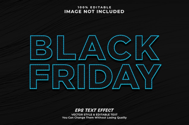 Black friday cool text effect