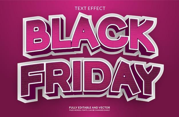 Черная пятница: креативный редактируемый жирный текстовый эффект