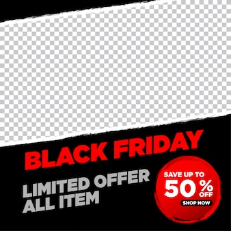 Black friday dark banner template