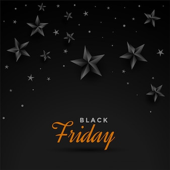 Black friday dark stars banner design template