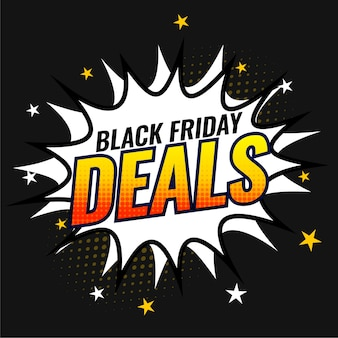 Modello di banner di offerte e offerte del venerdì nero