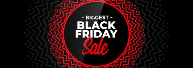 Black friday decorative sale banner