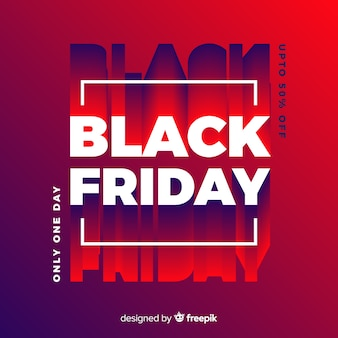 Black friday design in a square with shadows