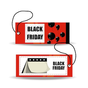 Black friday design with tag icon colorful design