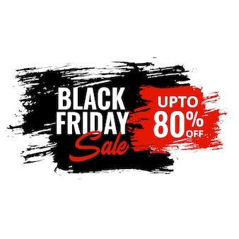Black friday discount banner in grunge style