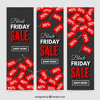 Black friday discount banners