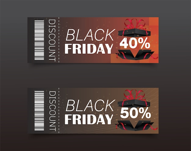 Black friday discount coupon design.sale icon.shopping.