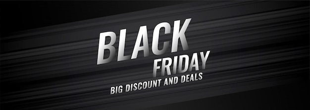 Black friday discount and deals banner design