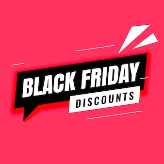 Black friday discount modern banner template
