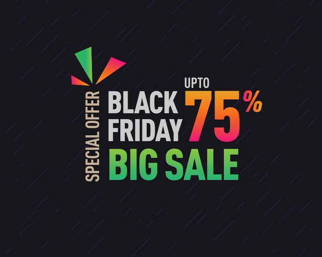 Black friday discount offer banner design