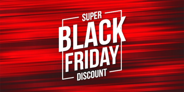 Black friday discount with abstract speed lines