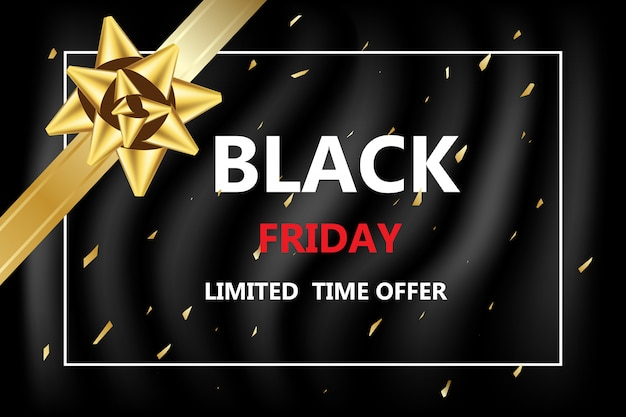 Black friday discounted for shopping online banner on sale