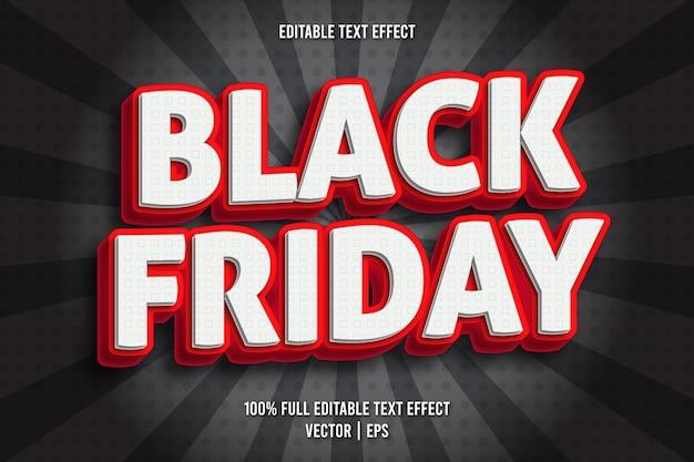 Черная пятница редактируемый текстовый эффект в стиле комиксов