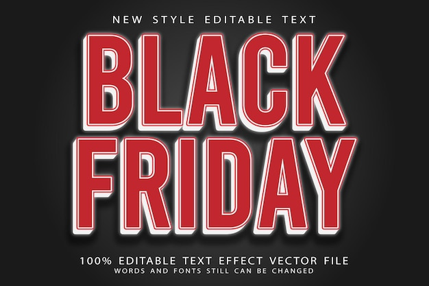 Black friday editable text effect emboss vintage style
