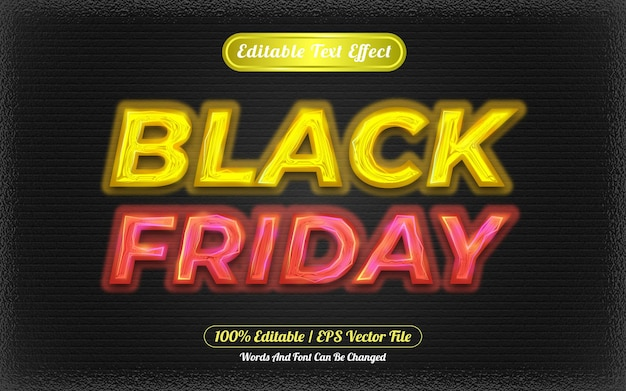 Black friday editable text effect light themed