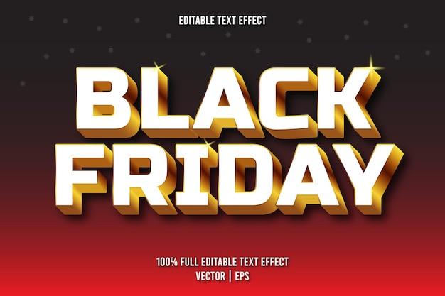 Черная пятница редактируемый текстовый эффект роскошный стиль