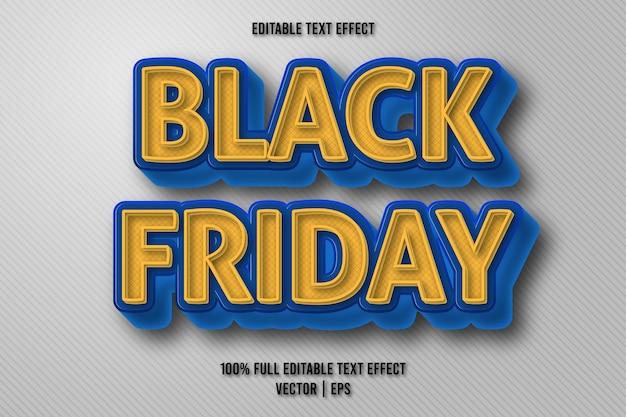 Черная пятница редактируемый текстовый эффект в стиле ретро