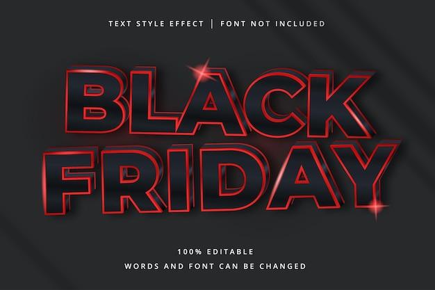 Редактируемый текстовый эффект черной пятницы