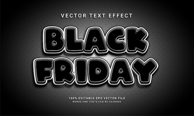 Black friday editable text effect