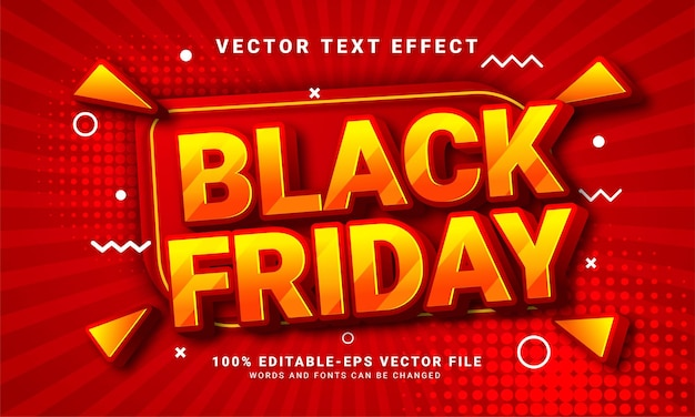 Black friday editable text style effect themed sales promotion