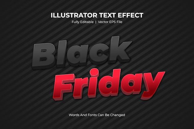 Эффект стиля редактируемого текста черная пятница