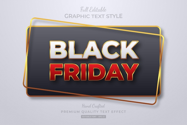 Black friday editable text style effect