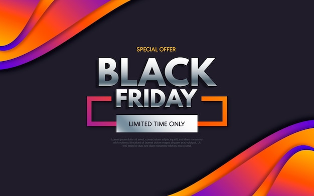 Black friday event in gradient style background