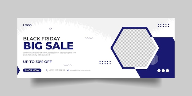 Black friday facebook cover page
