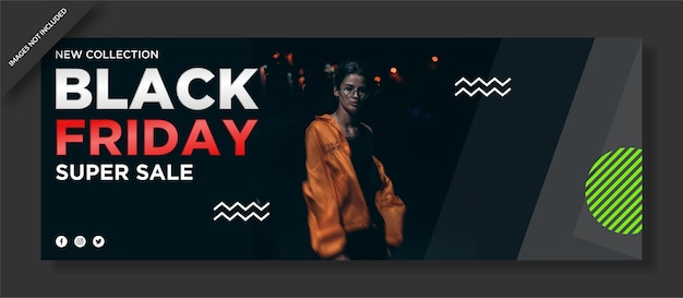 Black friday facebook cover and social media post