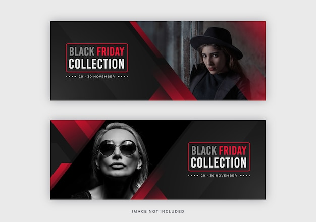 Black friday facebook cover web banner template