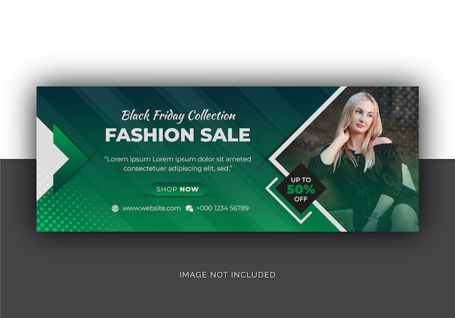 Black friday fashion sale social media facebook cover
