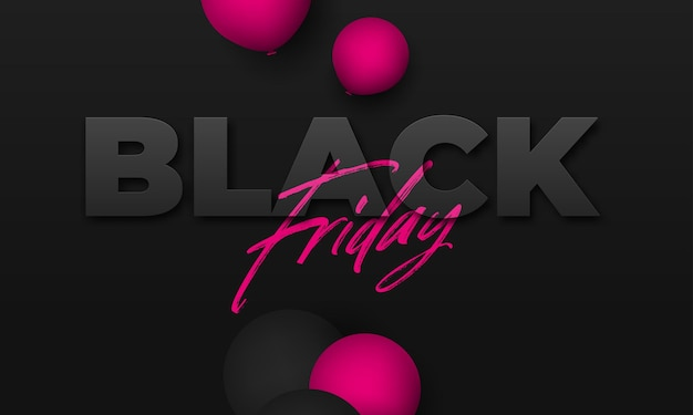 Black friday. festive background with helium balloons. story template, copy space for text.