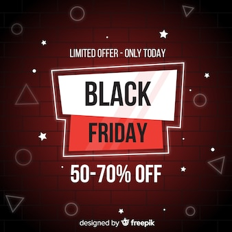 Black friday in flat design with gradient