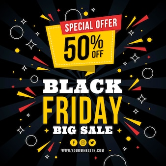 Black friday in flat design