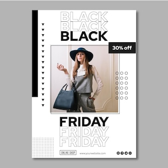 Black friday flyer a5 vertical