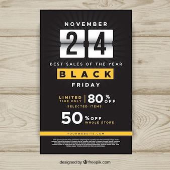 Black friday flyer con yellow elements