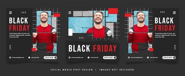 Black friday flyer or social media banner