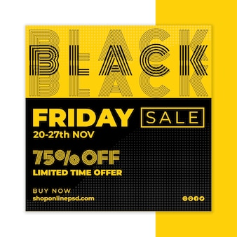 Black friday flyer square