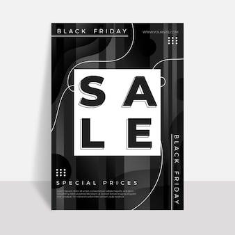 Black friday flyer template in flat design